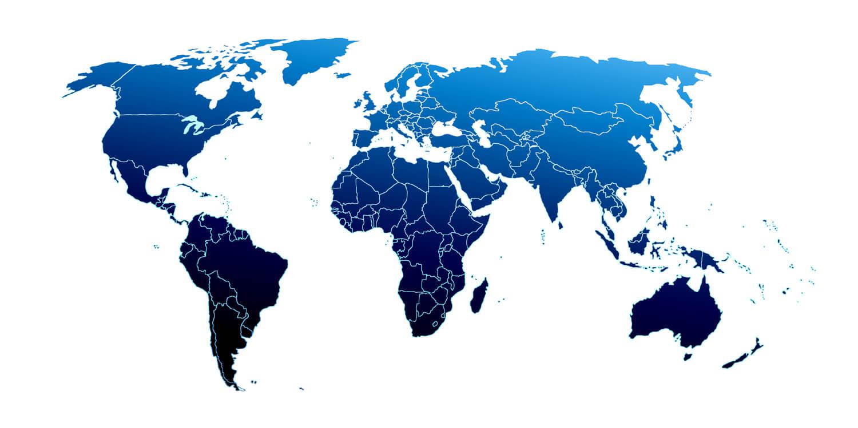 World map IBA distributors